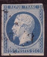N° 10, 25c Bleu, Napoléon - 1853-1860 Napoleon III