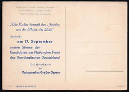 C2539 - DDR - Propaganda - Dresden - Wahl Der Nationalen Front - Partis Politiques & élections