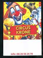 """Publicité Flyer Clown - Cirque """"Circus Krone / Cirque Benzini / Carrières-sur-Seine"""" - Programmes"""