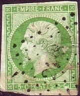 N°12 NAPOLEON III 5 C VERT - 1853-1860 Napoleon III