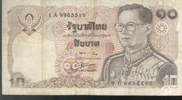 Billet 10 Bath Thaïlande 1978-1981 - Thailand