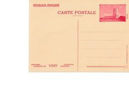 Mémorial De Vimy 90c CP N°1 Neuve - Cartes Postales Types Et TSC (avant 1995)