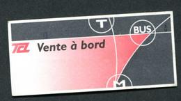 """TIcket De Bus Ou Métro """"TCL"""" Compagnie De Transport Lyon - Billet De Transport - Bus"""