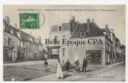 36 - BUZANÇAIS - Place Du Marché Aux Légumes Et Rue Des 3 Marchands +++ Coll. G. G., Châteauroux +++ 1908 - France