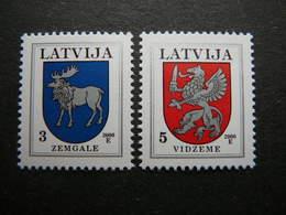 Definitive Issue Arms # Latvia Lettland Lettonie # 2000 MNH # Mi. 372/3 CVI - Lettonie