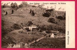 Greetings From - St. Helena - Kent Cottage - Cronje's Residence - T. JACKSON - Sainte-Hélène