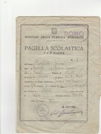 """8291 Eb.    Pagella Scolastica  Scuola """"Paradiso Dei Bambini"""" Napoli 1955 - Old Paper"""