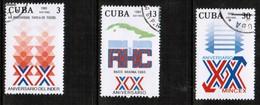 CUBA  Scott # 2428-30 VF USED (Stamp Scan # 446) - Cuba