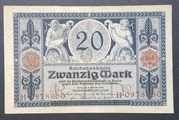 EBN12 - Germany 1915 Banknote 20 Mark Pick 63 WWI - [ 2] 1871-1918 : German Empire