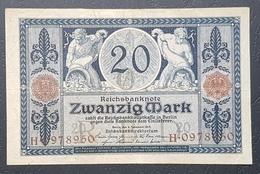 EBN12 - Germany 1915 Banknote 20 Mark Pick 63 WWI - 20 Mark