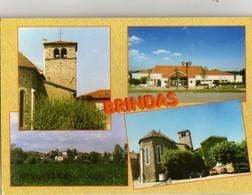 CPM BRINDAS ( Rhone)  Multivues Non Ecrite - France