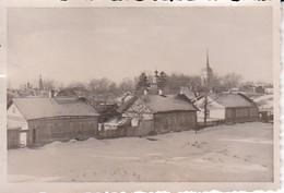 Foto Dorf Mit Kirchen In Russland Im Winter - Ca. 1941 - 8*5,5cm (39111) - Orte