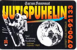 FINLAND - Neil Armstrong/Moon Landing 1969, Turun Sanomat, Turun Puhelin Telecard, Tirage 10000, Exp.date 12/96, Used - Finlande