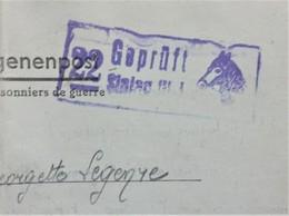 CL Prisonnier De Guerre STALAG VI J Censure Illustrée Tête De CHEVAL Vers Meaux Juin 1943 - Marcophilie (Lettres)