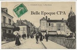 36 - BUZANÇAIS - La Rue Grande +++ E. Nouveau, Photo, #1 ++++ 1913 ++++ - France
