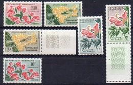 Gabun 1961 MiNr. 160/ 165  **/ Mnh ; Freimarken: Blüten - Pflanzen Und Botanik