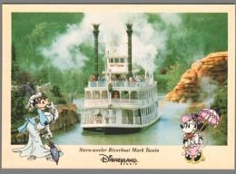 CPM Disneyland Paris - Stern Weeler Riverboat Mark Twain - Disneyland