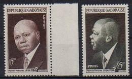 Gabun 1959 MiNr. 151/ 152  **/ Mnh ; Präsident Léon M'Ba - Gabun (1960-...)