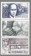 Sweden 1987 In The Service Of Humanity, Mi  1443-1445 From Booklet 122, MNH(**) - Schweden