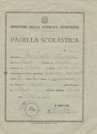 """8293.    Pagella Scolastica Napoli Scuola """" Giacomo Leopardi """" 1960 - Old Paper"""