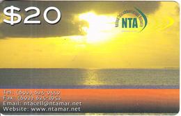 MARSHALL ISLANDS - Sunset, NTA Prepaid Card $20, Exp.date 23/11/18, Used - Marshall