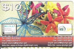 MARSHALL ISLANDS - Flowers, NTA Prepaid Card $10, Exp.date 23/06/18, Used - Marshall