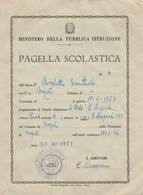 """8294.    Pagella Scolastica Napoli Scuola """" Giacomo Leopardi """" 1963 - Old Paper"""