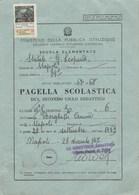 """8295.    Pagella Scolastica Napoli Scuola """" Giacomo Leopardi """" 1967 - Old Paper"""