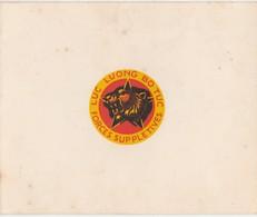 Carte Voeux Lieutenant Barboteu Forces Supplétives Indochinoises / Fête Du Têt /Insigne LUC Luong Bo Tuc / Etoile Tigre - Militaria