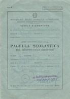 """8296.    Pagella Scolastica Napoli Scuola """" Giacomo Leopardi """" 1968 - Old Paper"""