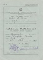 """8297.    Pagella Scolastica Napoli Scuola """" Andrea Doria """" 1973 - Old Paper"""