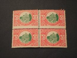 CHARKHARI - VARIETA' - 1931 PLAZZO 1 R.,. ND IN BASSO, In Quartina (block Of Four) - NUOVI(++) - Charkhari