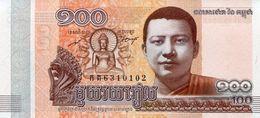CAMBODIA 100 RIELS 2014 (2015) P-65a UNC [KH428a] - Cambodja