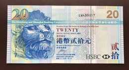 HONG KONG P207D 20 DOLLARS 01.01.2007 UNC - Hong Kong