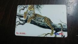 Indonesia-tele Pin-panda-(rp.20.000)-used Card+1card Prepiad Free - Indonesia