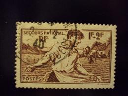"""1940  Timbre Oblitéré N° 467    """" Les Semailles      """"    Net 1.20 - Oblitérés"""
