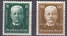 GERMANIA - ALLEMAGNE - REICH - 1927 - Yvert 394 E 397 Di Seconda Scelta: Nuovi Senza Gomma E Visibili Segni Di Pieghe. - Germania