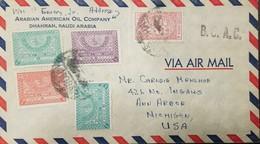 O) 1934 CIRCA-SAUDI ARABIA, TUGHRA OF KING ABDUL AZIZ SCT A9, GENERAL HOPSITAL MECCA SCT RA4, ARABIAN AMERICAN OIL COMPA - Saudi Arabia