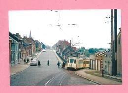 Photo Petit-Wasmes = La  Motrice S 9789  Grimpe La Côte De Saint-Roch  Sur  La Ligne 2  Barrée - Vervoer
