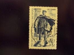 """1950  Timbre Oblitéré N° 863    """" Facteur Rural, Jt Du Timbre      """"  Net 2.50 - Frankreich"""