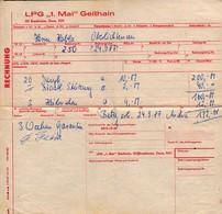 C0701 - Geithain - LPG 1. Mai - Rechnung - Deutschland