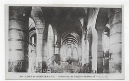 LONS LE SAUNIER - N° 30 - INTERIEUR DE L' EGLISE ST DESIRE - CPA VOYAGEE - Lons Le Saunier