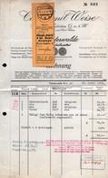 B2185 - Finsterwalde - Carl Emil Weise - Möbel Fabrik - Rechnung Nach Limbach - Deutschland