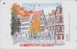 Télécarte Japon / 110-011 - STRASBOURG / FRANCE - Quais De L'Ill & Maisons à Colombages - Japan Phonecard - Paysages