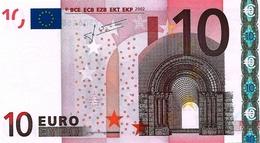 10  EURO -  GRECIA  - Serie   Y  30646865665   -   Codice Breve   N  021 B 6  - Firma  TRICHET. - EURO