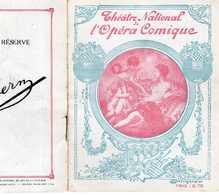 PROGRAMME OPÉRA COMIQUE 26/02/1919 LES CONTES D'HOFFMANN OFFENBACH BEYLE LAFONT BROTHIER TISSIER BRUNLET ALAVOINE HÉRENT - Programmes