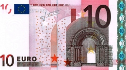 10  EURO -  GRECIA  - Serie   Y  30478522627   -   Codice Breve   N  021 D 5  - Firma  TRICHET. - EURO
