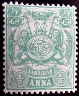 1904 Zanzibar Yt 75 , Mi 73 .Coat Of Arms With The Monogram Of The Sultan . Neuf Trace Charnière - Zanzibar (...-1963)