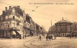 Schaerbeek - Place Liedts Et Rue Des Palais (animée, Kiosque, Tram Tramway Delhaize Le Lion) - Schaarbeek - Schaerbeek
