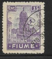 Fiume, Scott # 31 Used Clock Tower, 1919, Thin - 8. WW I Occupation